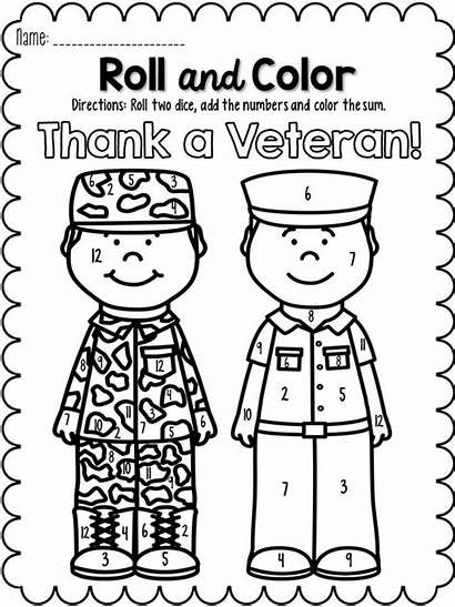 November Roll Veterans Numbers Coloring Crafts Elementary