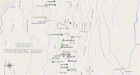ubud map bali travel guides