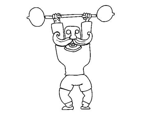 disegno  muscoloso da colorare