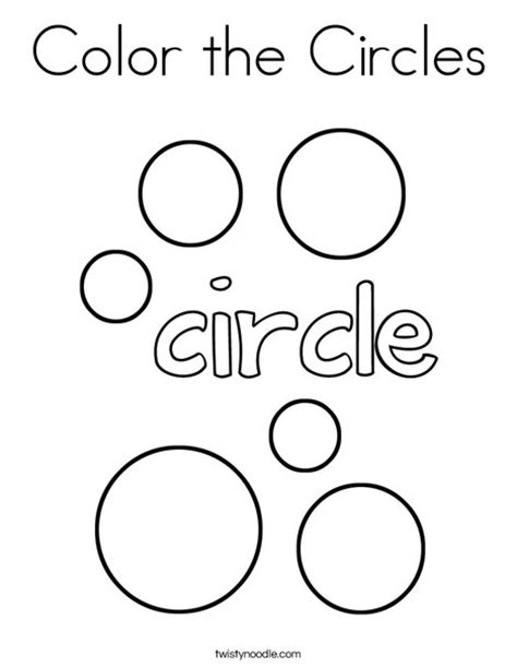 Twisty Noodle Coloring Pages Color The Circles Coloring Page Twisty Noodle Shape