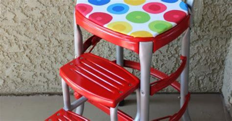 Vintage Red Cosco Step Stool   Stools, Kitchens and Vintage