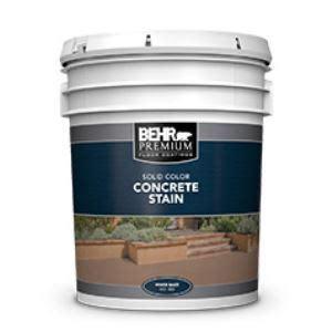 behr premium solid color concrete stain   behr