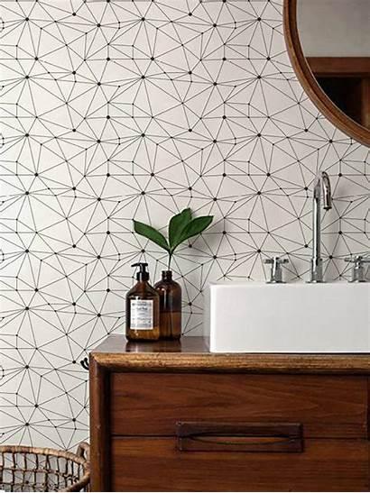 Adhesive Self Removable Geometric Minimalistic Temporary Bathroom