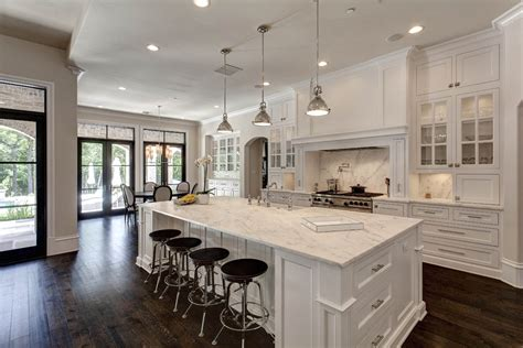 Charming Open Concept Kitchen With White Cabinet Also