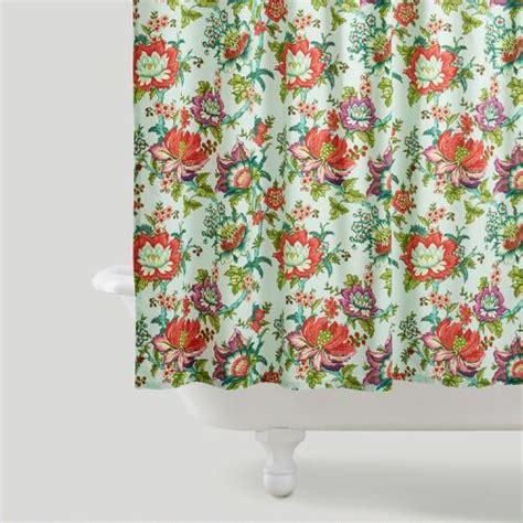 shower curtains world market floral shower curtain world market