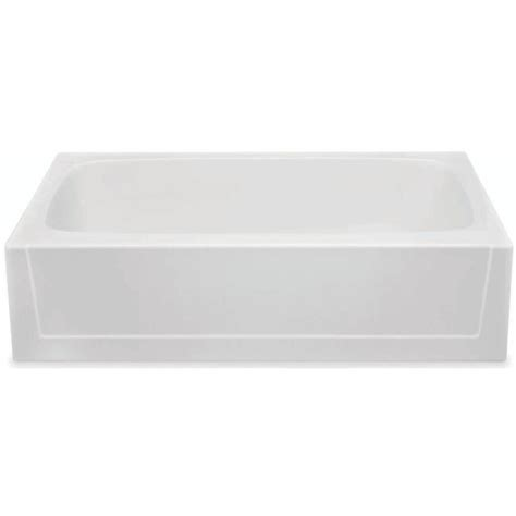 lasco bathtubs home depot aquatic 5 ft gelcoat right drain soaking