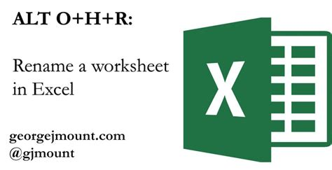 rename tab in excel keyboard shortcut keyboard shortcut rename worksheet in excel