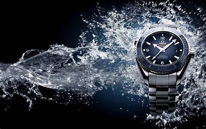 Omega Spray Water Seamaster Wristwatch Background Wallpapers