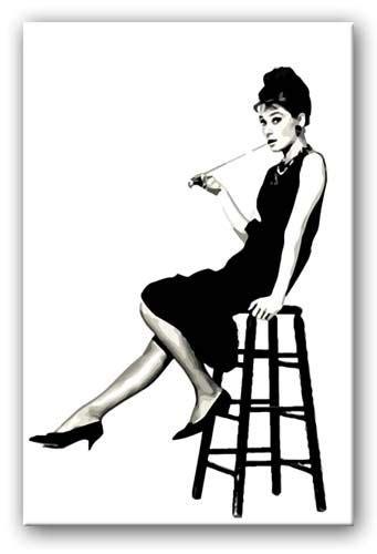 audrey hepburn  stool canvas