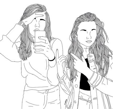 bff disegni amiche facili image about in grunge sketch by idlesmiles
