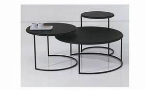 Table D Appoint Gigogne : table basse gigogne verre noir choix d 39 lectrom nager ~ Teatrodelosmanantiales.com Idées de Décoration
