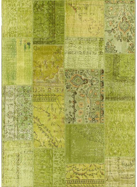 tapis xxl pour salon vintage patchwork  anis de la