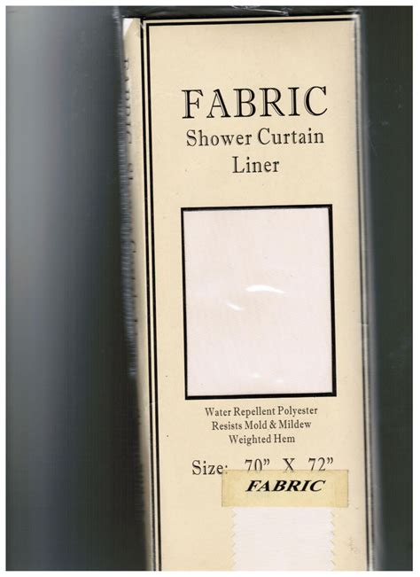 standard size fabric shower curtain liner water repellent
