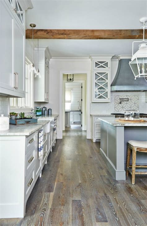 gray kitchen cabinets with hardwood floors 10 best floorings for your rustic kitchen
