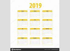 Calendario simple para imprimir Plantilla simple para