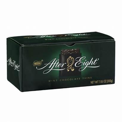 Eight Chocolate Mint Thins Nestle
