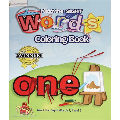 meet the sight words coloring book by preschool prep company 453 | ppc 405