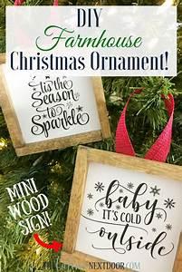 Diy, Farmhouse, Christmas, Ornament