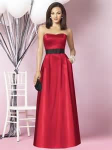 crimson bridesmaid dresses and black bridesmaid dress with floor length ipunya