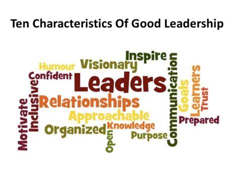 qualities   leader