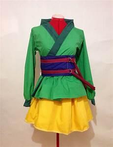 Mulan Inspired Green Kimono Dress