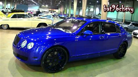 bentley forgiato wet 39 14 candy blue bentley flying spur on 24 quot forgiato