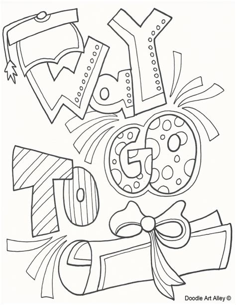 graduation coloring pages  printables classroom doodles
