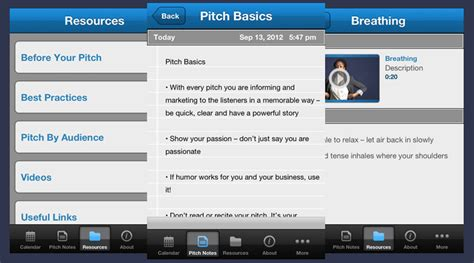 app refines and improves your sales pitch presos the