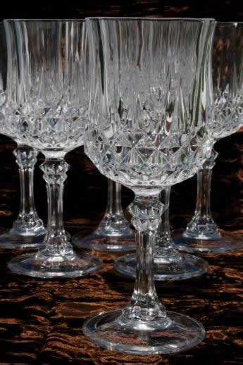 cristal darques longchamp french crystal water glasses