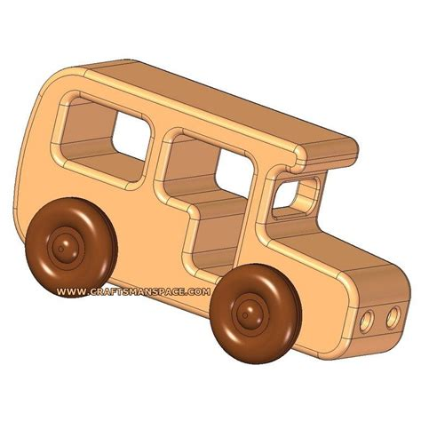 wooden bus kids toy plan projects pinterest toy