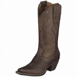 "Women's Ariat® 11"" Rhinestone Cowgirl Cowboy Boots, Brown ..."