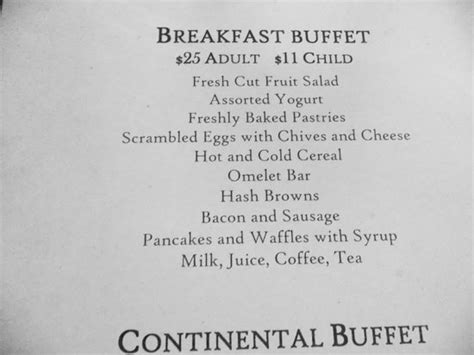 2014 breakfast menu picture of the ahwahnee hotel dining