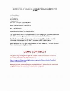 breach of contract company documents With free breach of contract letter template