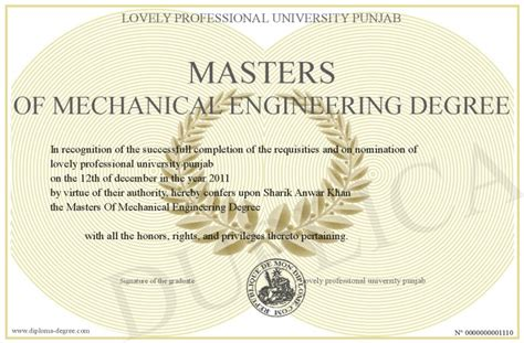 Admission process for diploma in mechanical engineering. Masters-Of-Mechanical-Engineering-Degree
