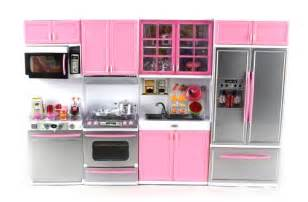 39 deluxe modern kitchen 39 battery operated toy kitchen playset perfect for use with 11 5 quot tall