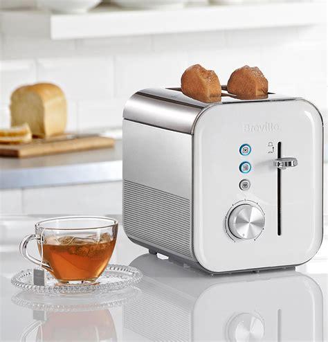 White Toaster by Breville Vtt686 2 Slice High Gloss Toaster White