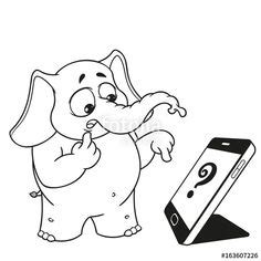 cute baby elephant coloring pages images