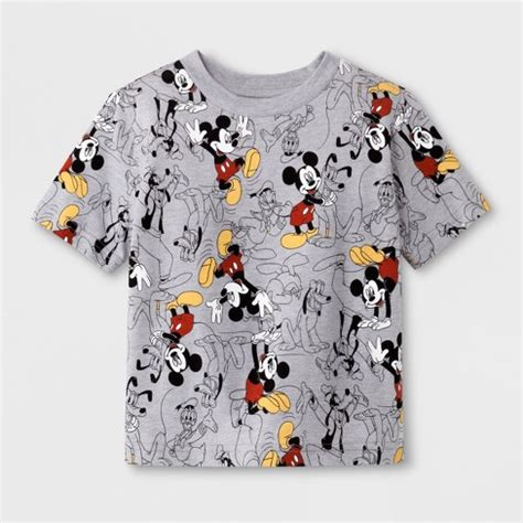 toddler boys mickey mouse print sleeve t shirt