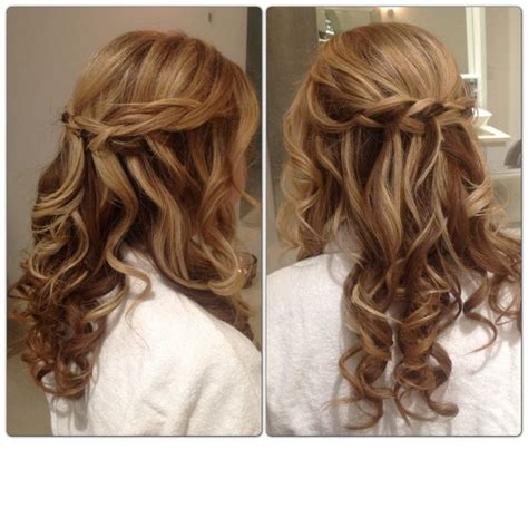 hair up curly styles bridesmaid hair half up curly lovely hairstyle 6914