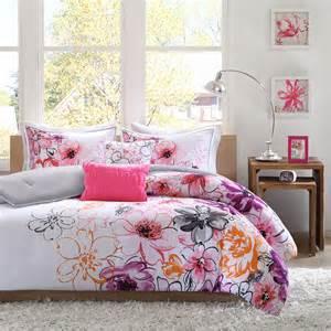 beautiful 5pc modern chic pink white teal purple black orange girl comforter set ebay