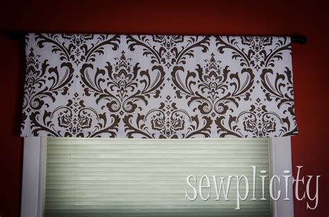 how to make a valance quick easy lined valance sewplicity