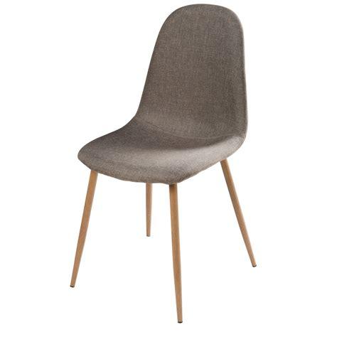 chaise tissu gris chaise en tissu gris clyde maisons du monde