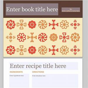 collection of free cookbook templates great layouts for With homemade cookbooks template