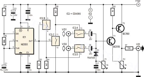 Video Switch For Intercom System Circuit Project
