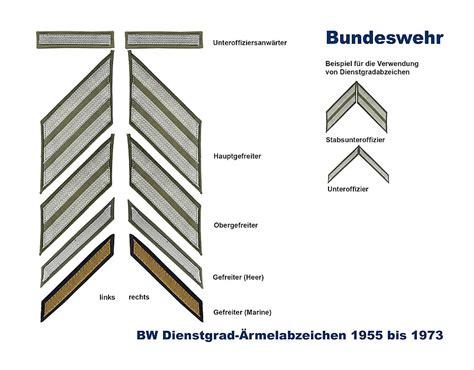 bw dienstgradabzeichen   textil  bundeswehr