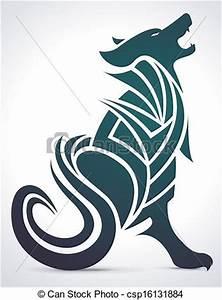 Tatouage Loup Graphique : vecteur de hurlement tribal loup hurlement tribal ~ Mglfilm.com Idées de Décoration