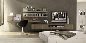 Bureau Moderne Design : peinture bois pour meuble 4 am233nagement de bureau moderne dans un salon design evtod ~ Teatrodelosmanantiales.com Idées de Décoration