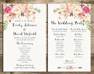 rustic wedding fan programs wedding announcements etsy au