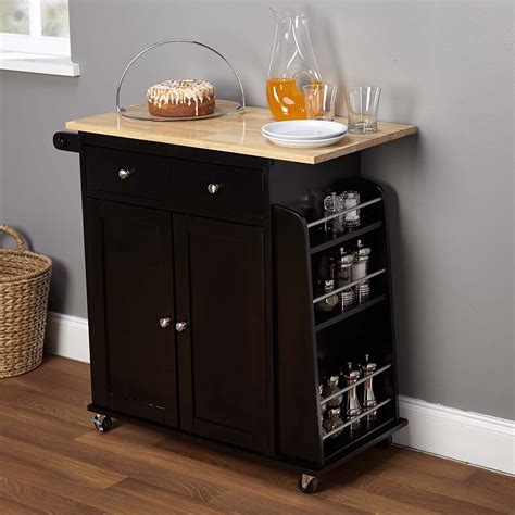 mobile kitchen islands homcom home basics kitchen cart with drawers and 4182