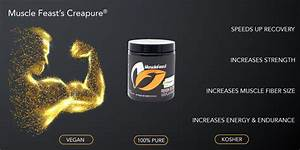 Creapure Creatine Monohydrate Powder By Muscle Feast Premium Preworkout Or Postworkout Easy To
